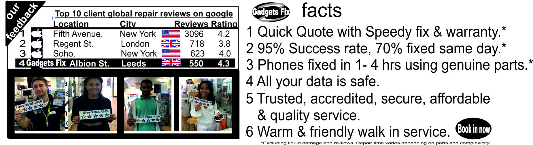gadgets fix feedback repairs leeds facebook & google reviews latest