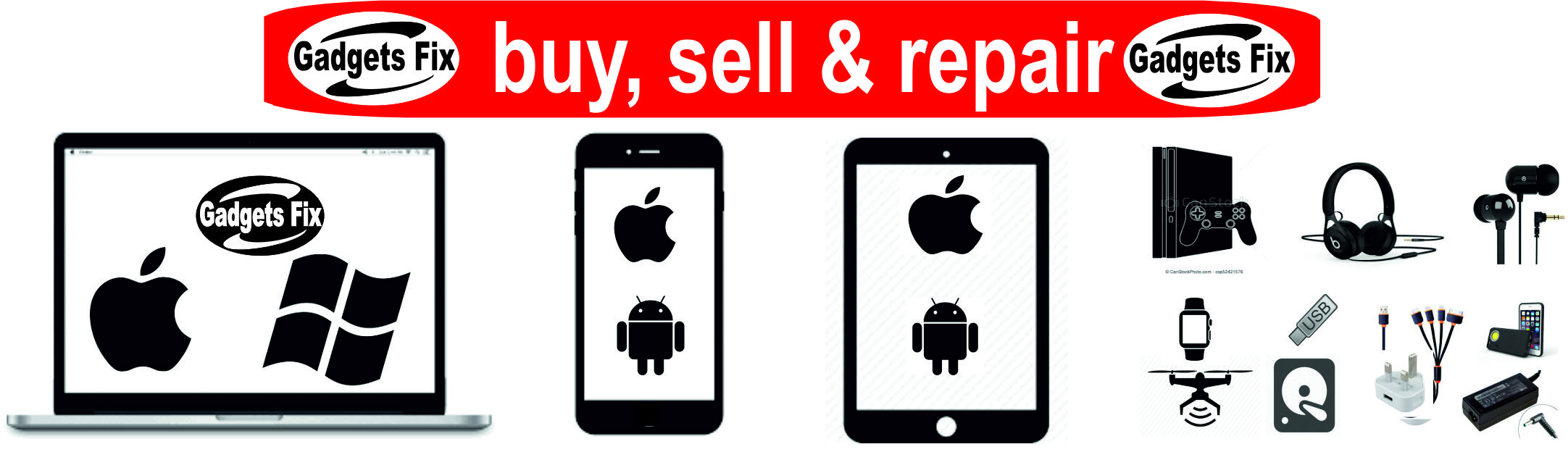 gadgets fix buy, sell & repair laptop, macbooks, iphones, smart phones,tablets,consoles