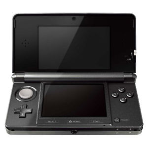 nintendo 3DS console black unboxed