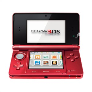 nintendo 3DS console metallic red,boxed