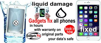 Liquid damage issues repairs for all iPhones and smart phones Samsung Huawei, sony, laptops and tablets at Gadgets Fix