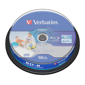 verbatim blu-ray disc 25gb 6x speed
