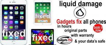 liquid damge iphones smart phones macbooks, laptops, tablets and consoles repairs at gadgets fix