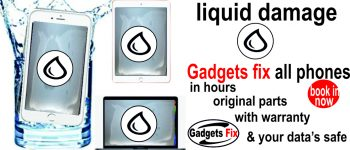liquid damge iphones smart phones macbooks, laptops, tablets and consoles repairs gadgets fix