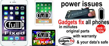 battery charging port and power issues fixed at Gadgets fix