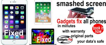 screen repair for iPhones, Smart phones, laptops, macbooks ,iPads and tablets at Gadgets fix.