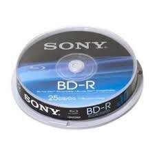 sony BD-RE blu-ray disc 25gb/go