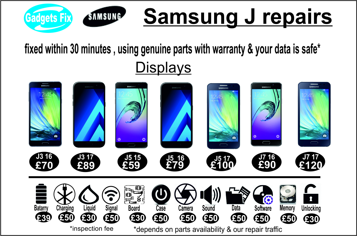 Samsung J (series) repairs