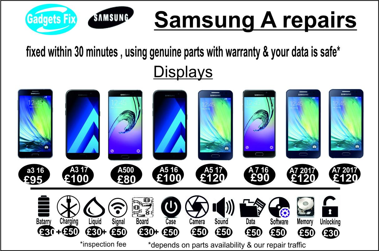 Samsung A (series) repairs