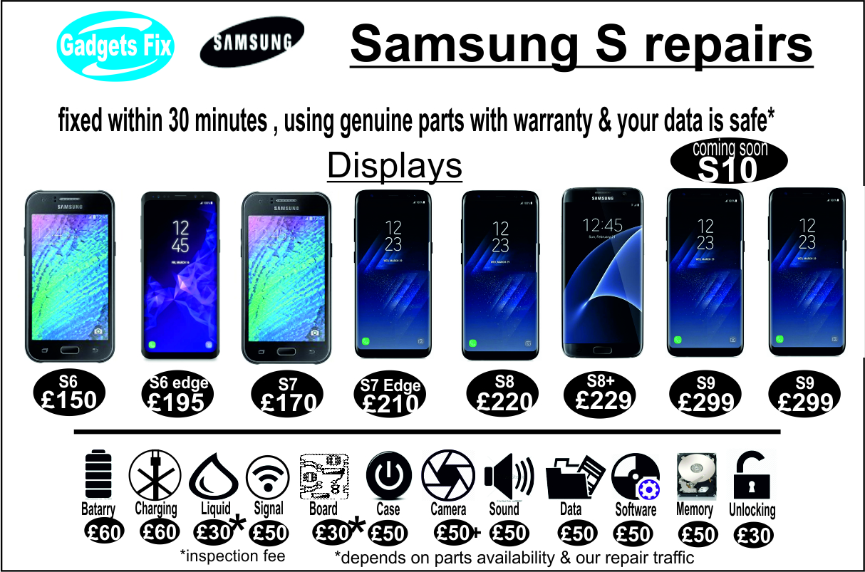 Samsung S (series) repairs