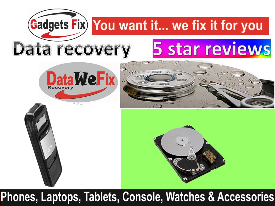 Data recovery on phone, laptops, pen drives & hard drives leeds