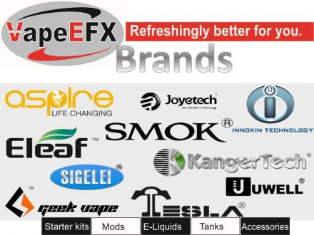 VapeEfx.com E liquids, mods, tanks, vape kits, coils and accessories smok aspire, inoken,