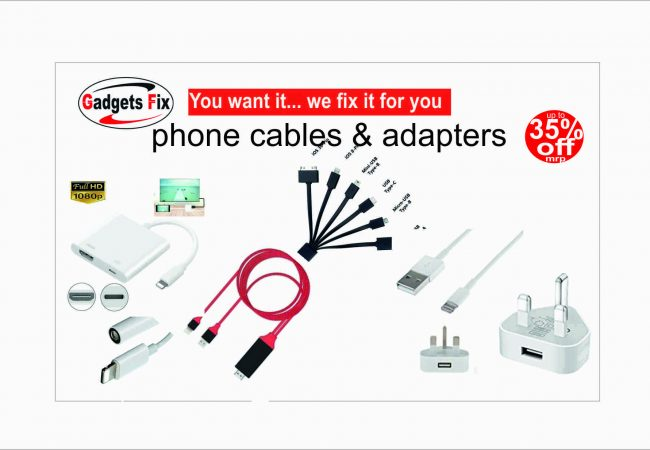cables, usb, chargers, tv adapter, laptop charger at gadgets fix save up to 30%