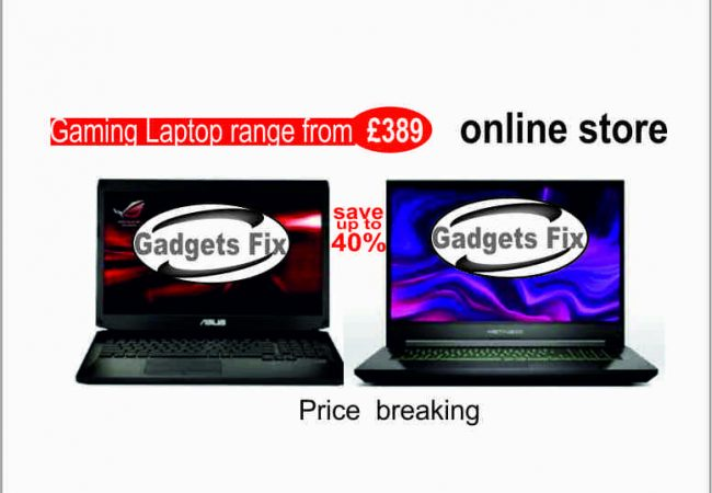 asus and metabox gaming laptop at Gadgets fix. Gadgets fix buy sell and repair
