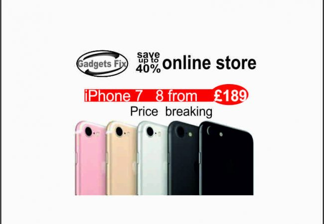 iphone 7, 8 , 7 plus, 8 plus save up to 40% at gadgets fix. Gadgets fix buy sell and repair