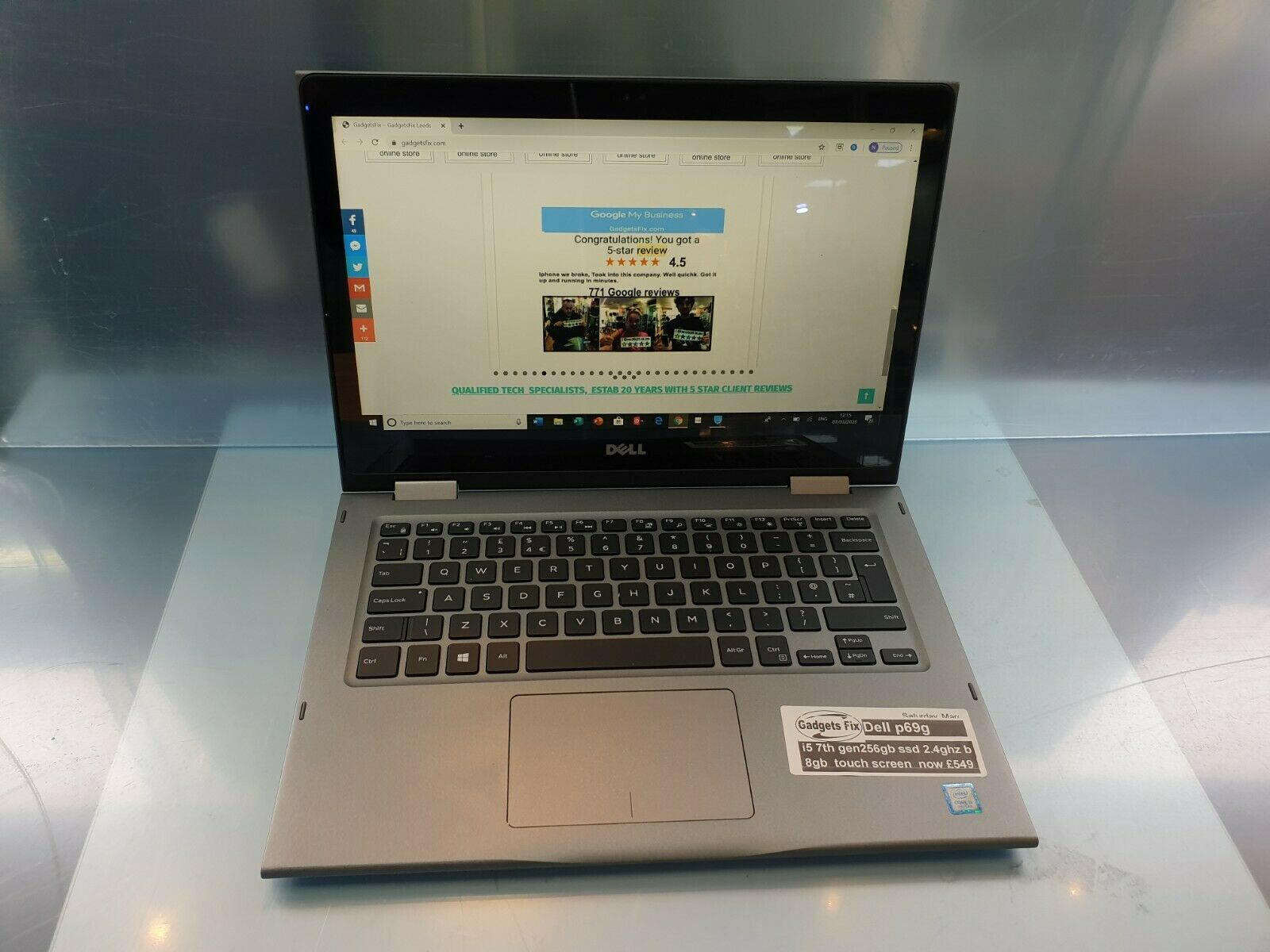 Dell Inspiron 13 5378, 2-in-1 , Touch Screen