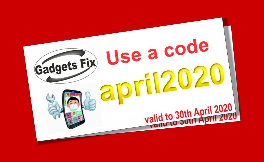 discount voucher code for repairs at gadgets fix Leeds