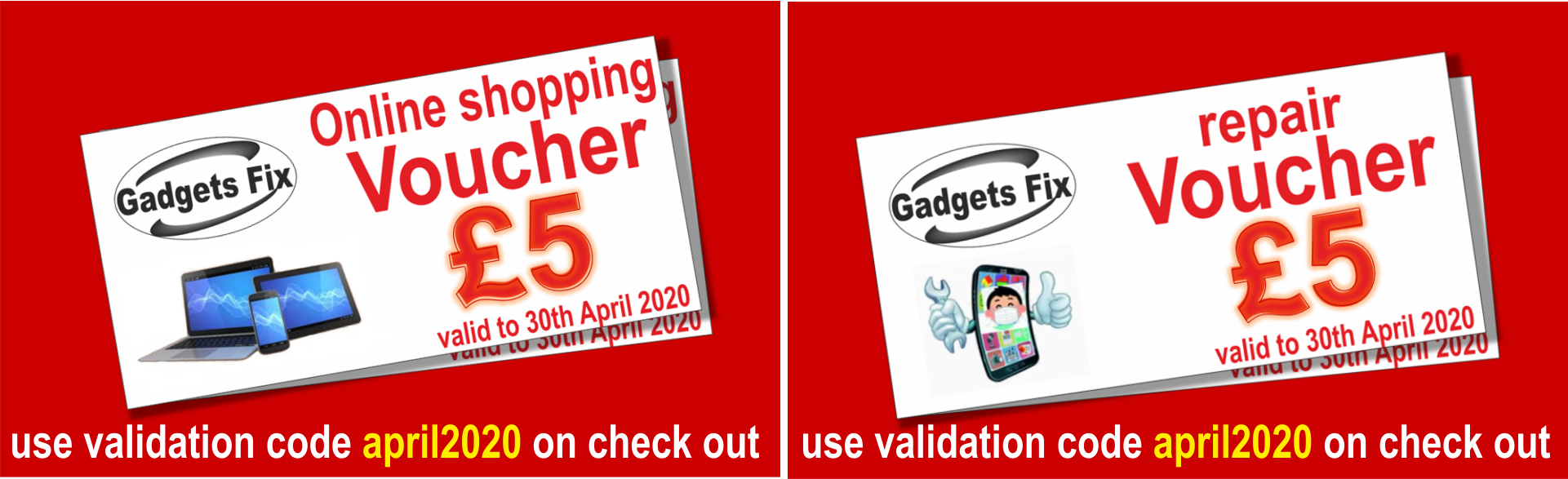 voucher april 2020 gadgets fix