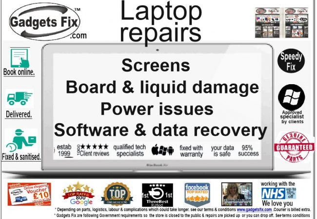 all laptop screens, board, liquid damage power issues, software & data recovery at gadgets fix - Copy