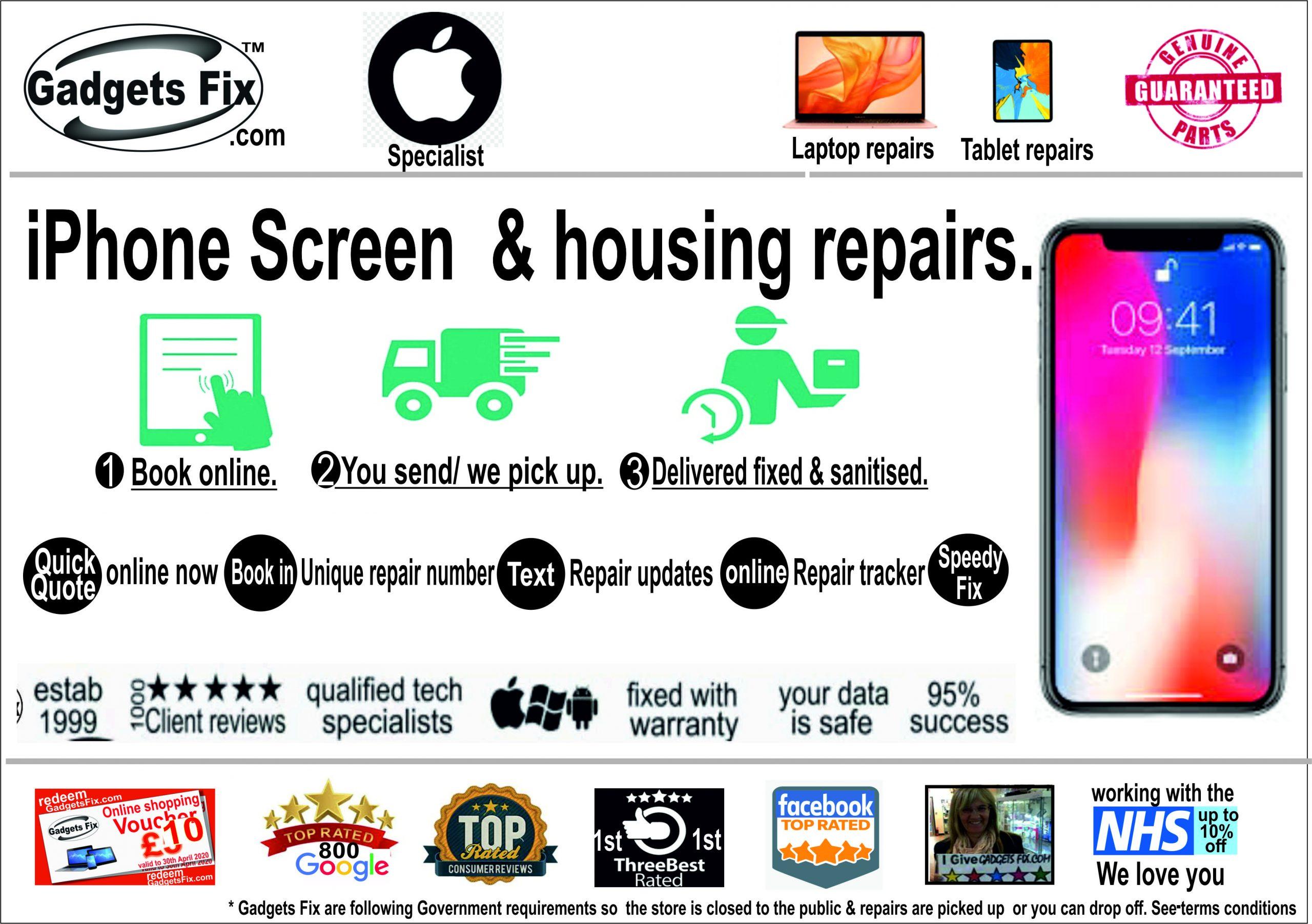 iPhone screen and casing repairs gadgetfix