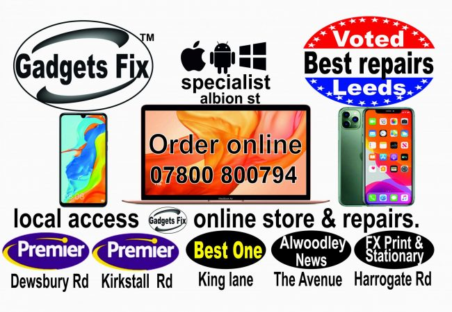 book in your Gadgets fix in Beeston, Headingley, Armley, Moortown, alwoodley , adel meanwood, shadwell Hunslet, city centre, cookridge, horsforth, wetherby ,otley.