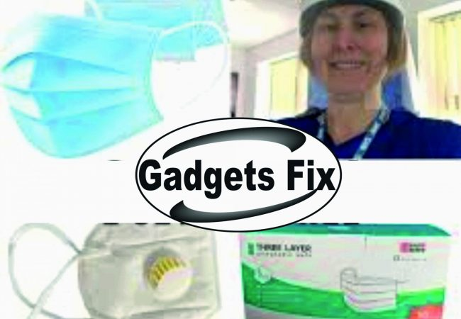 Protective gloves and mask at gadgets Fix