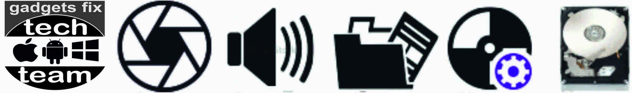 Gadgets fix camera sound data software har drives storage
