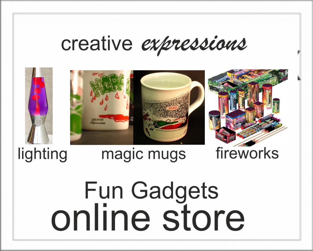 Fun Gadgets fix Fireworks, Magic mugs Lightin