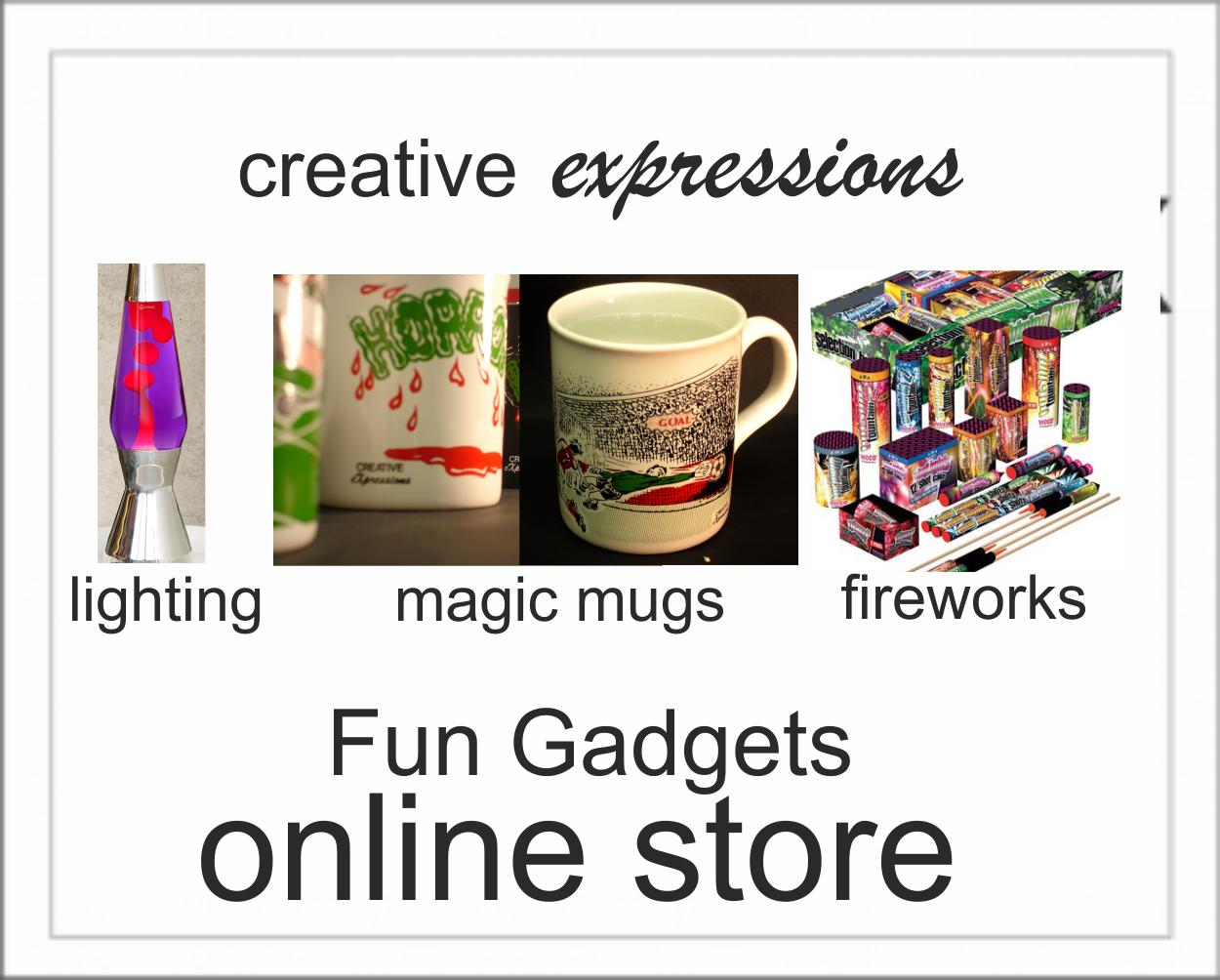 Fun Gadgets fix Fireworks, Magic mugs Lightin