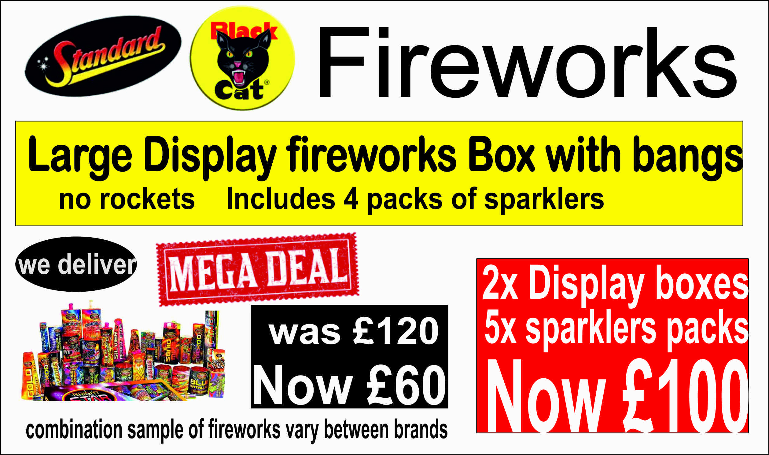 Large Display Fireworks Box with Bangs at GADGETS FIX
