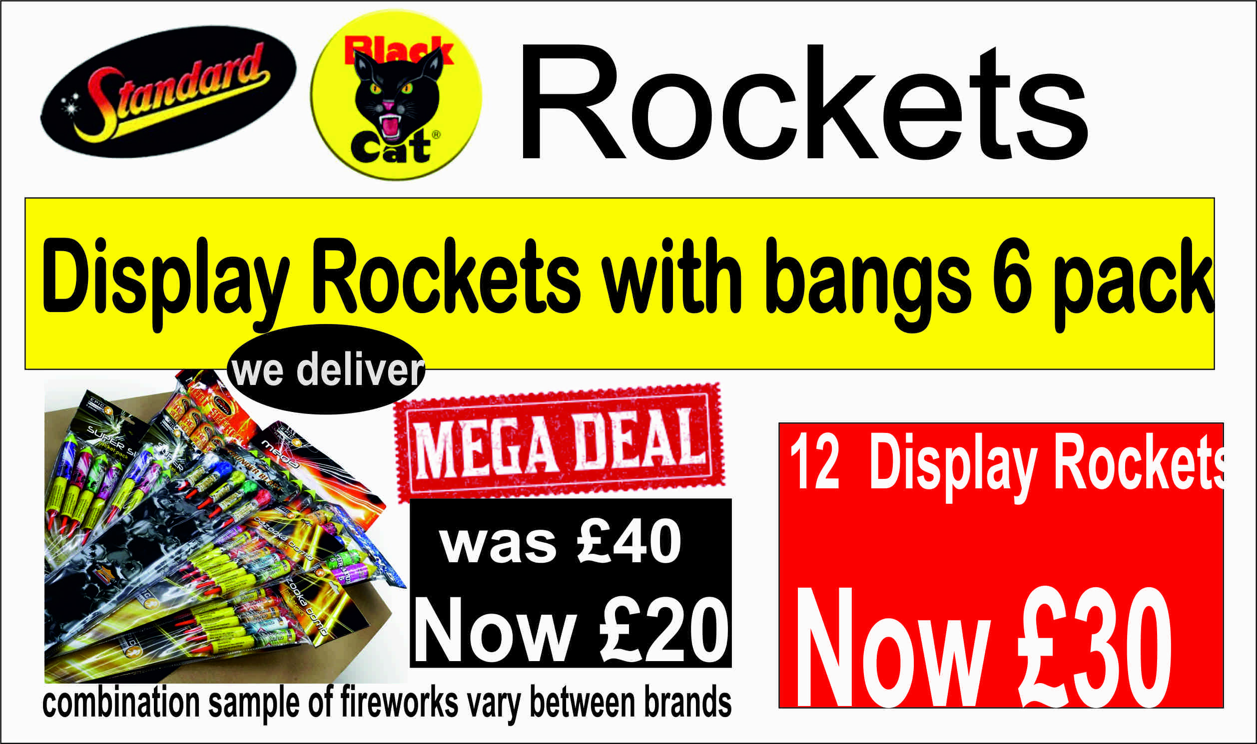 Display Rockets with Bangs (Pack of 6) at GADGETS FIX