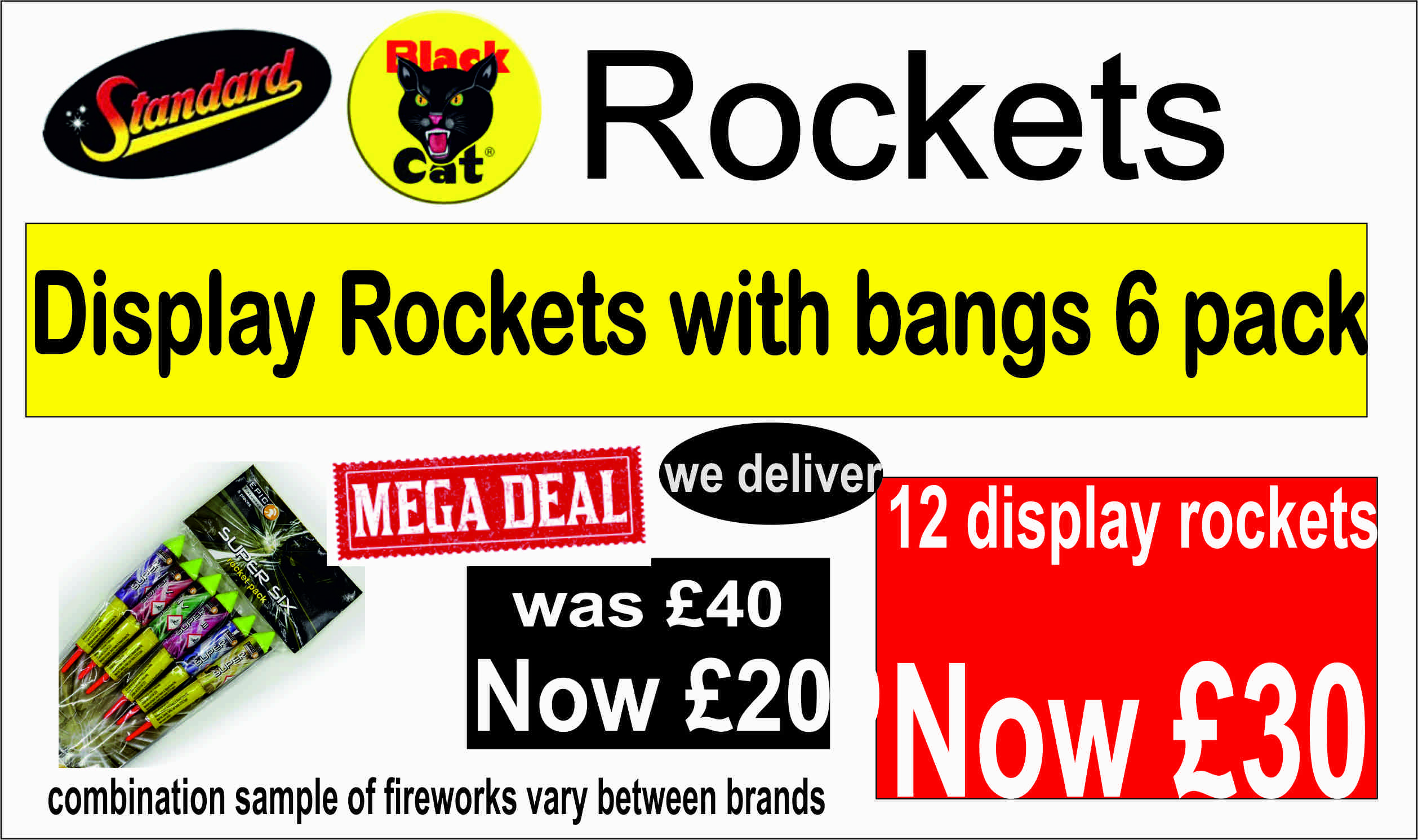 Rockets with Bangs 6 Pack at Gadgets Fix